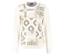 Strickpullover - off white/khaki/camel
