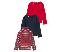 3 PACK Langarmshirt red