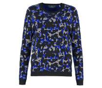 CHECK Strickpullover king blue