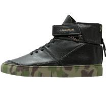 HAMACHI Sneaker high deep black/woodland/gold