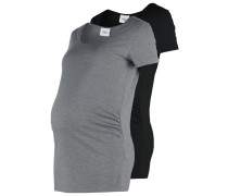 MLLEA NELL 2 PACK TShirt basic black/med grey melange