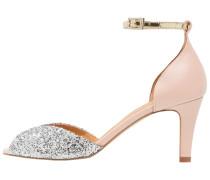 JOLENE Peeptoe glitter silver/pink