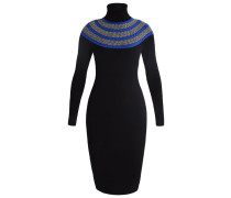 Strickkleid - black/multi