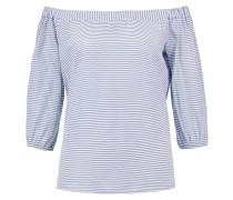 Bluse white/light blue