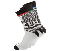 3 PACK Socken white/black