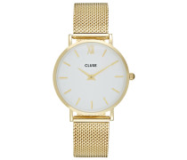 MINUIT - Uhr - gold-coloured/white