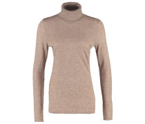 JORGENA Strickpullover light brown melange