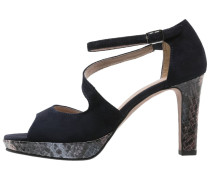 High Heel Sandaletten navy