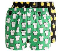 T&Z 2 PACK Boxershorts black/green
