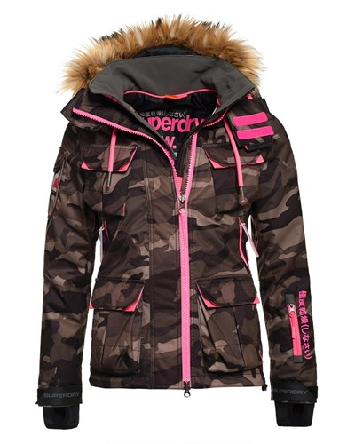 superdry damen superdry ultimate snow service winterjacke camo reduziert. Black Bedroom Furniture Sets. Home Design Ideas