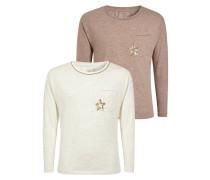 2 PACK Langarmshirt pink