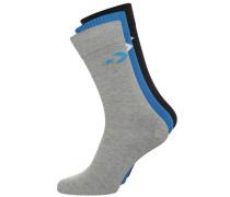 BASIC CREW 3 PACK Socken blue/light grey melange/black