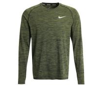 Langarmshirt black/legion green/reflective silver