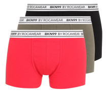 3 PACK Panties black/kaki/red