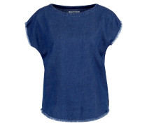 LORIE Bluse light indigo enzyme stone wash