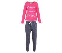 SET Pyjama strawberry/grey