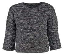 Strickpullover - black/white