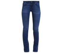OLIVIA - Jeans Straight Leg - sateen blue glam stretch