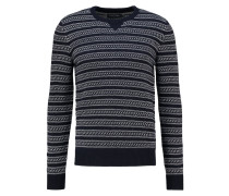 Strickpullover - off white/dark blue
