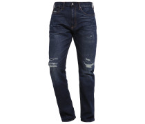 SLIM FIT Jeans Straight Leg indigo repair