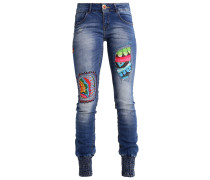 Jeans Slim Fit bleached denim