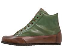 Sneaker high tamponato verde scuro