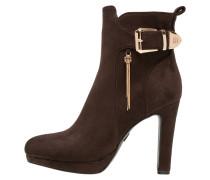 High Heel Stiefelette dark brown