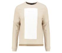 Sweatshirt sand/white