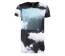 TShirt print black/blue