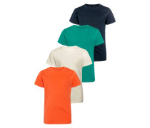 4 PACK TShirt basic red
