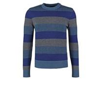 Strickpullover blue stripe