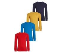 4 PACK Langarmshirt red