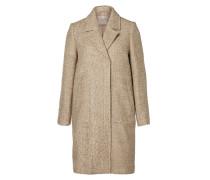 Wollmantel / klassischer Mantel mottled beige