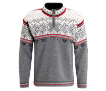 VAIL Strickpullover smoke/raspberry/off white/dark charcoal