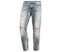 SLIM STRAIGHT Jeans Slim Fit destroyed denim