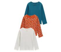 3 PACK Langarmshirt blue/red/white