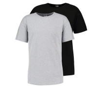 2 PACK TShirt basic black/grey