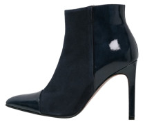 High Heel Stiefelette navy