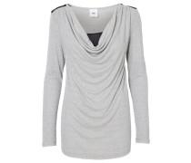 Bluse medium grey melange