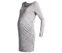 SHIRRED Jerseykleid space dye grey marl