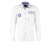 PERFECT FIT Hemd weiss/blau