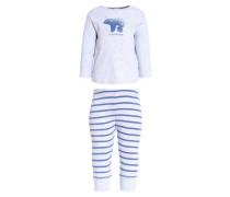Pyjama hellgrau melange