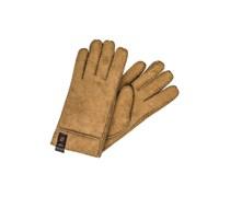 SIDEWALL Fingerhandschuh bomber jacket chocolate