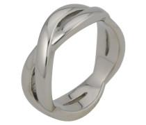 NINNI Ring plain silver coloured