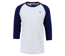 GStar MALIZO R T 3/4 SLV Langarmshirt grey heather/sartho blue