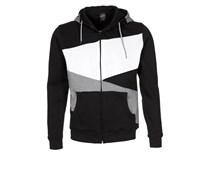 ZIG ZAG Sweatjacke black/grey/white