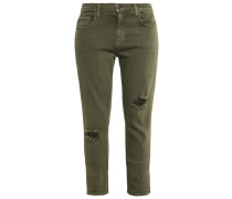 THE FLING Stoffhose army green