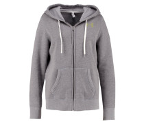 FAVORITE - Fleecejacke - graphite light heather/smash yellow/smash yellow