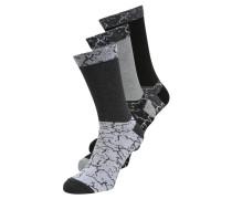 3 PACK Socken black/grey/white