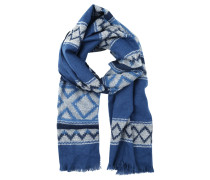 Schal blue fairisle